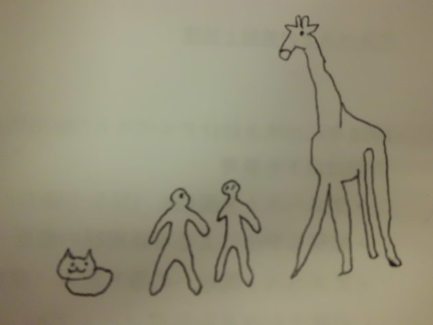 ■身長の差 朝礼スピーチのネタ「キリンと猫の視点」